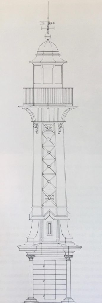 Illustration technique du Phare des Paquis